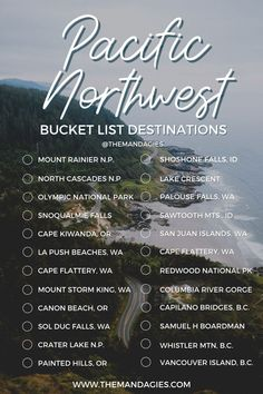 How many of these gorgeous Pacific Northwest destinations have you checked off? Save this post for planning a Pacific Northwest trip to see the best places in Washington, Oregon, Idaho, British Columbia and Northern California! #PNW #pacificnorthwest #idaho #washington #oregon #BritishColumbia Bucket List Destinations, Northern California, Pacific Northwest, British Columbia, Idaho, North West, The Great Outdoors, Oregon, Washington
