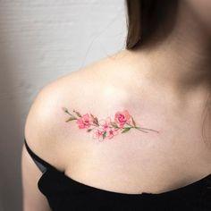 flowers  #flowertattoo #colortattoo #tattoo #tattoos #ink #hongdam #tattooisthongdam #꽃타투 #컬러타투 #타투 #홍담 #타투이스트홍담