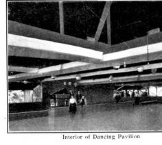 Interior of Dancing Pavilion, from postcard booklet of Monte Rio on the Russian River, California, circa 1900s