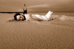Trash the dress on the beach on a cloudy day!!!