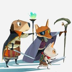 Questing animals on a quest of course #cute #art...