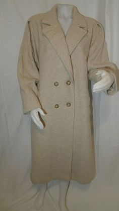 FREDDIE GAIL Womens Tan Wool Blend Gold Lined insulated Trench Coat! Free ship! #FreddieGail #TrenchCoat #AllOccasion