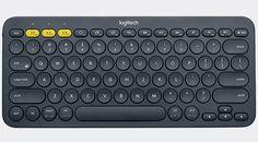 Het Logitech K380 Multi-Device Bluetooth Keyboard voor apparaten met de voornaamste besturingssystemen