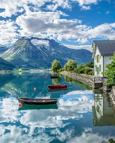 Oppstryn , Norway Ahhh, so freaking gorgeous. Imagine waking up to this