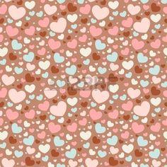 motif coeur: Mignon Valentine aime seamless coeurs colorés Illustration
