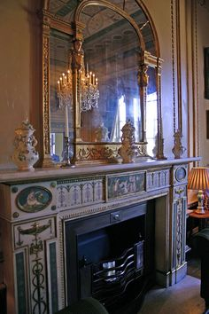 Upper Seymour Street and Portman Square in Regency London – Jane Austen's World Home Fireplace, Fireplace Surrounds, Fireplaces, Classical Architecture, Interior Architecture, Kenwood House, Adam Style, Mantle Piece, Radiator Cover