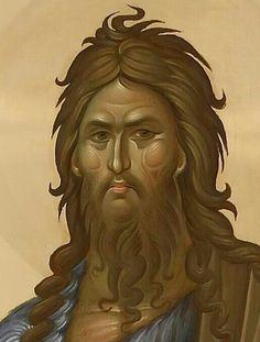 St John the Baptist Byzantine Icons, Byzantine Art, Religious Icons, Religious Art, Greek Icons, Roman Church, Paint Icon, Biblical Art, Saints