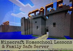 Minecraft Homeschool Lessons + kid safe family friendly minecraft server with Chat filters/moderation..more