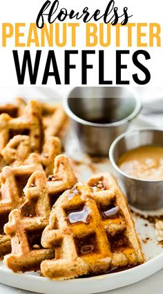 These FLOURLESS PEANUT BUTTER WAFFLES are not only easy to make, but also protein rich! All you need are a few healthy ingredients and they turn out light, fluffy, dairy free, and delicious! Freezable for breakfast meal prep or on simple grab and go! Trul