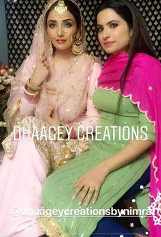 Punjabi Girls, Punjabi Dress, Punjabi Bride, Embroidery Suits Punjabi, Embroidery Suits Design, Designer Punjabi Suits, Indian Designer Wear, Indian Bridal Wear, Indian Wear
