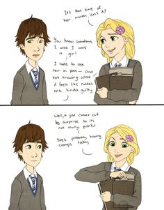 Astrid and Hiccup in Hogwarts, Part 3/9