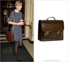 Leaving her hotel | London, England | November 7, 2012 Beara Beara 'Santa Anna Satchel' - £145.00 Worn with: NW3 dress, O Jour flats and A Size Too Small necklace Check out the multiple times Taylor...