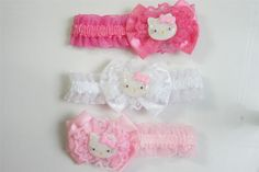Cute Hello Kitty Headband Hairband FOR Baby Toddler Girls Lace Accessory Pink   eBay