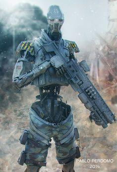 http://pabloperdomo4d.cgsociety.org/art/zbrush-keyshot-photoshop-mech1-robotic-cyborg-2d-1205439