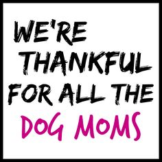 We're thankful for all Dog Moms! Mother's Day