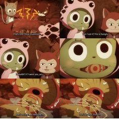Hahaha I love Frosch. Fairy Tail Cat, Fairy Tail Funny, Fairy Tail Love, Fairy Tail Ships, Fairy Tail Anime, Exceed Fairy Tail, Fairy Tail Sabertooth, Fairy Tail Quotes, Fairy Tail Pictures