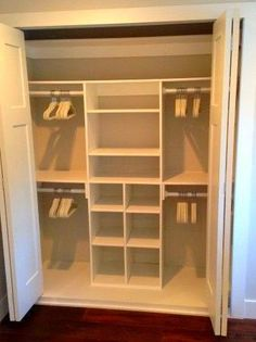 Below are the Diy Closet Design Organization Ideas. This post about Diy Closet Design Organization Ideas was posted under the … Bedroom Built In Wardrobe, Bedroom Closet Doors, Bedroom Closet Storage, Bedroom Closet Design, Closet Designs, Diy Bedroom, Trendy Bedroom, Diy Wardrobe, Bedroom Ideas