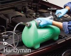 Extend the life of your engine by changing transmission fluid. Learn how to change transmission fluid with a pump. Truck Repair, Engine Repair, Vehicle Repair, Car Fix, Car Restoration, Car Tools, Car Hacks, Diy Car, Car Cleaning
