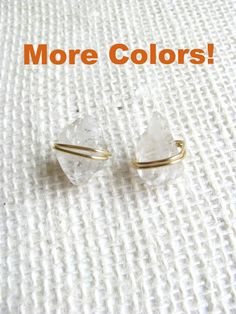 Harmony Studs available in clear quartz, smoky quartz or pyrite! Perfect boho way to dress up any outfit!