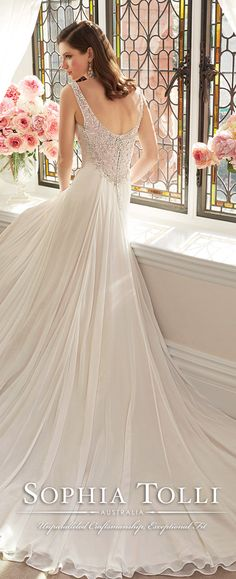 sophia tolli straps wedding dresses spring 2016 Y11644