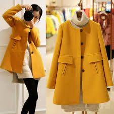 Resultado de imagem para yellow cashmere coat