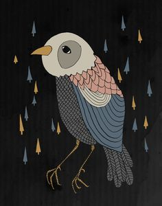 DREAM BIRD Art Print by Kelli Murray   Society6