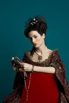 Elisa Lasowski as Marie-Thérèse d'Autriche in Versailles (TV Series, 2015) Promotional pictures