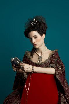 Elisa Lasowski as Marie-Thérèse d'Autriche in Versailles (TV Series, 2015) Promotional pictures