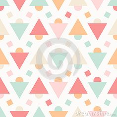 Geometric Abstract Pastel Seamless Pattern On White - Download From Over 30 Million High Quality Stock Photos, Images, Vectors. Sign up for FREE today. Image: 40673471