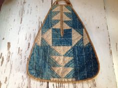 Early blue and white patchwork quilted ladies by sarahhavener, $95.00