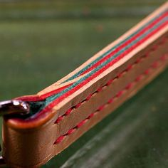 making | wallet cord #bespoke #handcrafted #leatherwork #walletcord by niwa_leathers