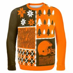 Cleveland Browns NFL Ugly Sweater Busy Block