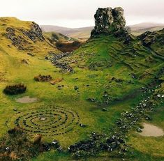 Fairy glen on isle of Skye, Scotland.