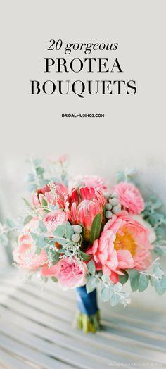 Protea Bouquet | Proteas for Weddings | Bridal Musings Wedding Blog