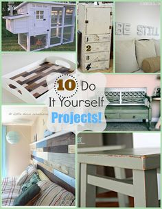 10 DIY Projects #DIY #painte #furniture #crafts
