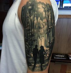 Couple in the Forest | Best tattoo ideas & designs