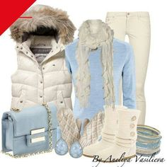 Winter clothes minus the scarf and purse