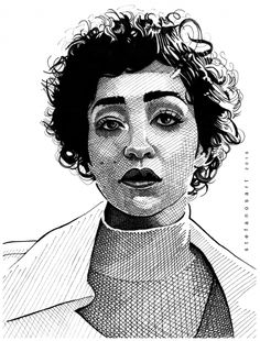Portrait of Ruth Negga by Stefanosart on Stars Portraits, the biggest online gallery for celebrity portraits. Celebrity Portraits, Portrait Illustration, Acrylic Art, Online Gallery, Ink Art, Tulips, Muse, Wolf's Rain, Board Ideas