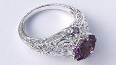Purple love wedding ring