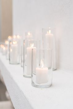 Candles in tall, cyl