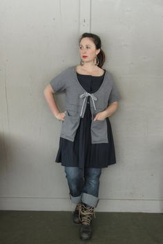 Large X Large 1 X upcycled cropped T shirt by lillienoradrygoods
