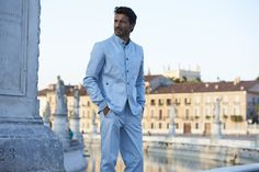 Our Cortina jacket in Padova, Italy, Prato della Valle, one of the largest square in Europe