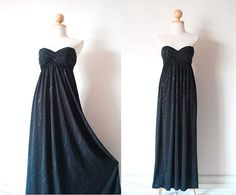 Elegant Black Maxi Dress on Etsy, ฿1,797.39