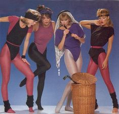 1980s Exercise Gear... I wore these kind of things. Had a drawer of leg warmers