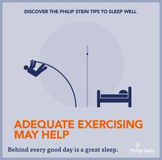 Improve your quality of sleep with adequate exercise and the #sleepbracelet #philipstein