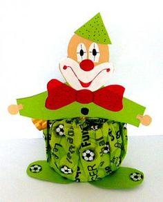 Clowns aus Dosen als Partygeschenke - Fasching-basteln - Meine Enkel und ich - Made with schwedesign.de