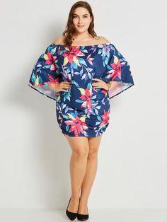 Sishot women dresses 2018 summer blue bodycon floral color block slash neck  dress backless print pullover plus size print dress. d93c6271e948