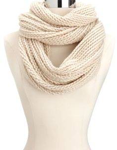 chunky open-knit woven infinity scarf