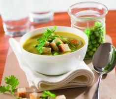 Recept Krémová hrachová polévka od Vorwerk vývoj receptů - Recept z kategorie Polévky