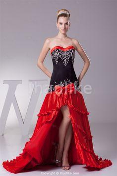 Black red bridesmaid dresses on pinterest red for Red black white wedding dresses